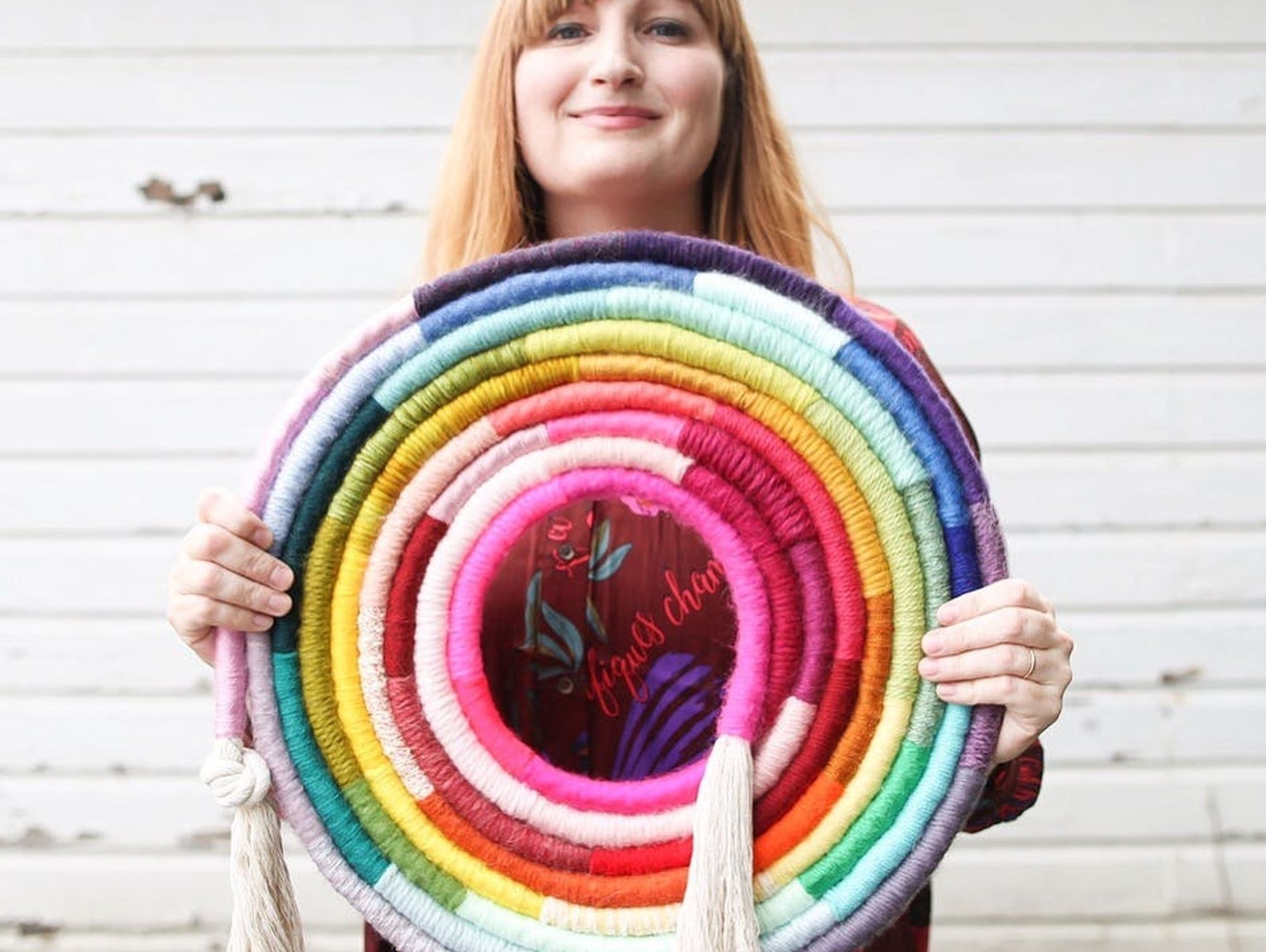 Creative Crushin': Meet the Maker Behind The Insta-Famous Fiber Rainbow Wall Hangings You've Been Swooning Over