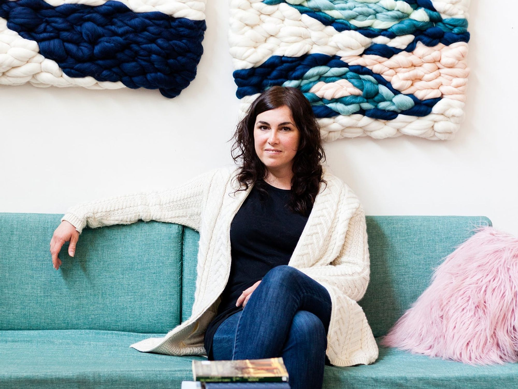 Creative Crushin': Artist Meghan Shimek's Larger-Than-Life Roving Creations Will Make You Want to Weave
