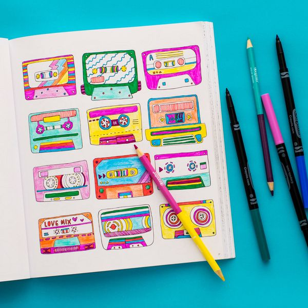 10 FREE Coloring Pages from Brit + Co's Pattern Play Coloring Book