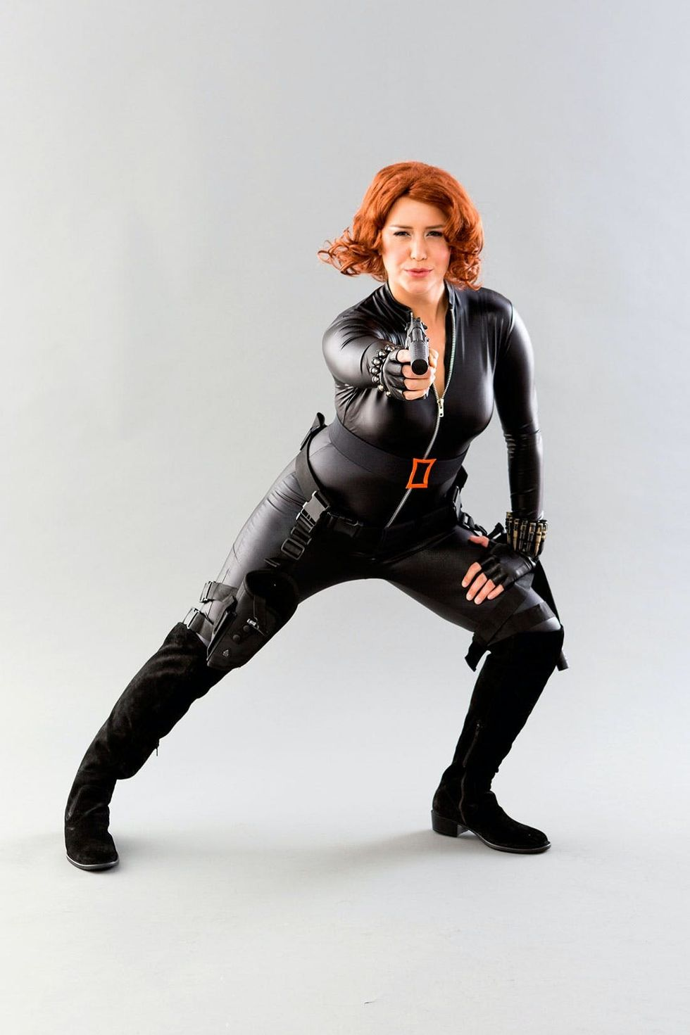How To Make A Black Widow From The Avengers Costume Brit Co