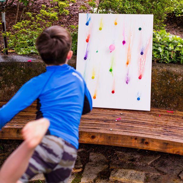 Backyard Art FTW: DIY Water Balloon Watercolor Art