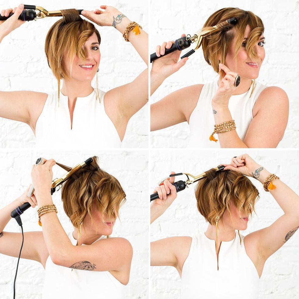 Pixie Waves How To Curl Short Hair Brit Co
