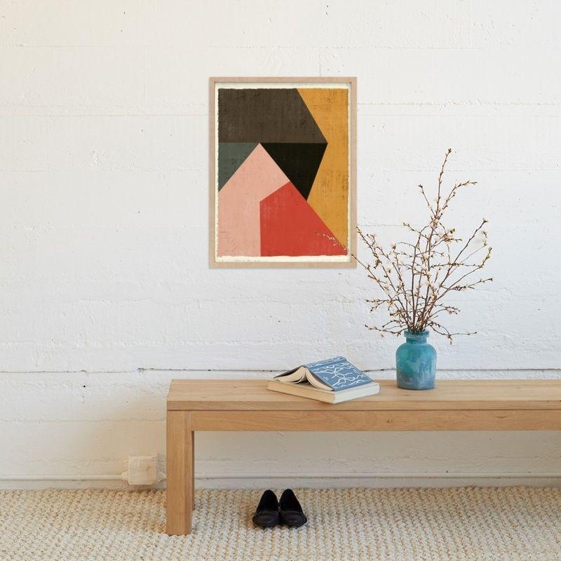Living Room Art Blue Collage Print Color Block Artwork Gift for Her Bedroom Art Print Gift for Him Gallery Wall Art Home Decor Poster