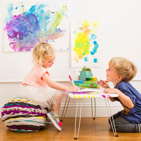 Kids making art