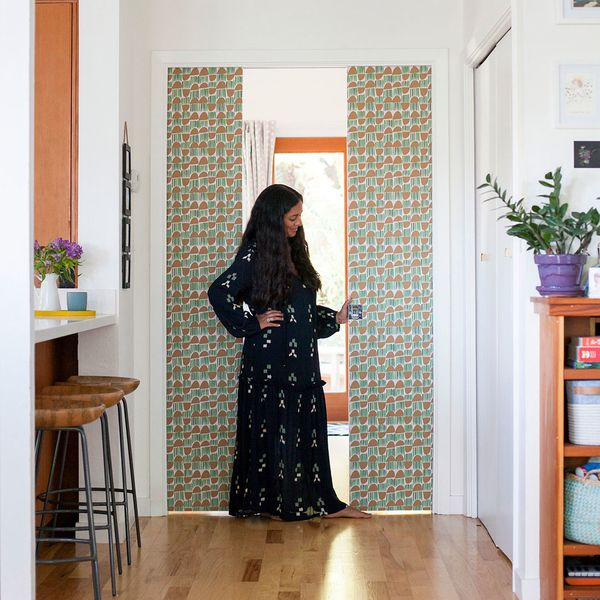 Make It Over: Pocket Doors with a Wallpaper Pattern Pop