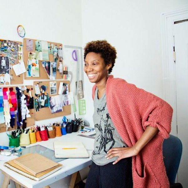 woman with a creative side hustle