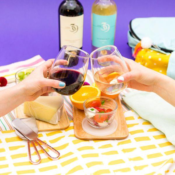 wine and skincare