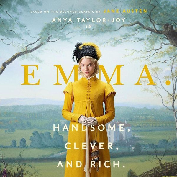 spring movies, anja taylor-joy as emma in a yellow costume