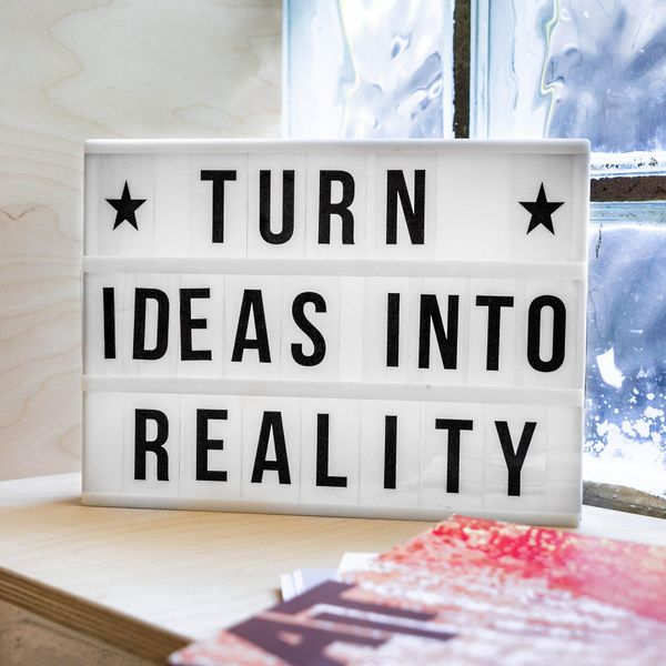 turn ideas into reality message board