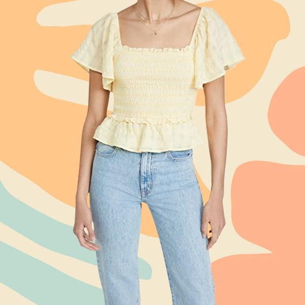 Summer Color Trends Yellow Ruffle Blouse Top