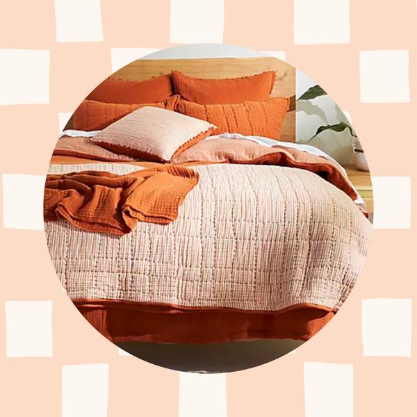 rust orange bedding