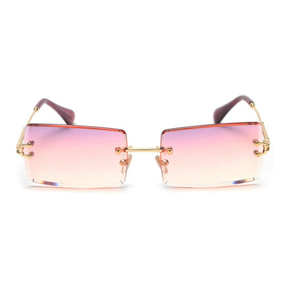 pink rectangle glasses from amazon without rims