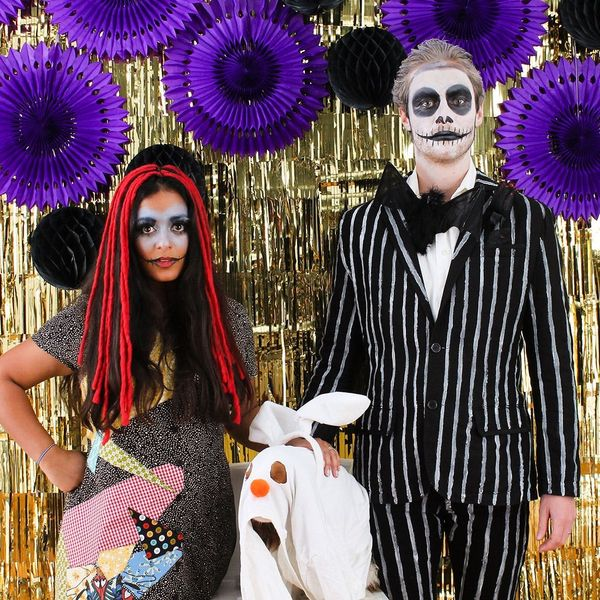 How to DIY an Easy Nightmare Before Christmas Couple's Costume