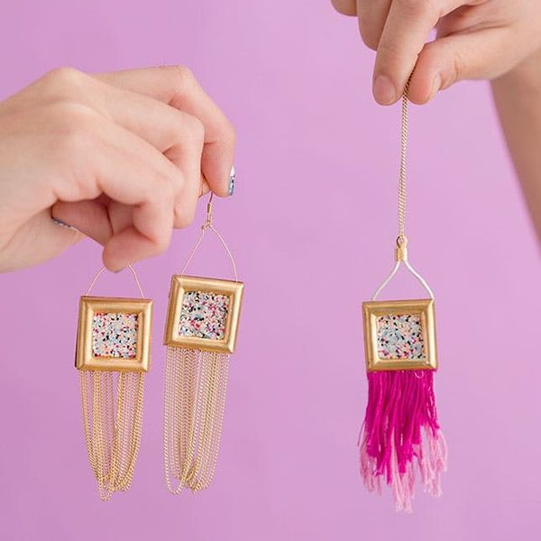 Make Your New Favorite Earrings With This Amazing Nail Polish Hack