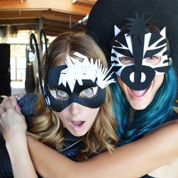 Time to Par-DIY: Chic Halloween Masks Edition