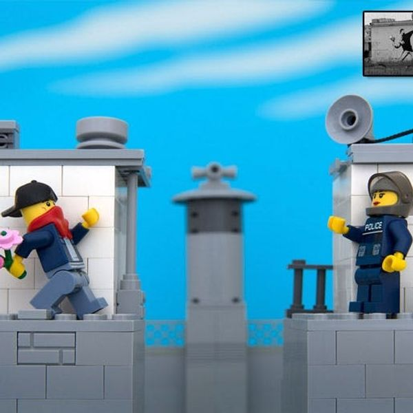 Made Us Look: LEGO Street Art Inspired by Banksy