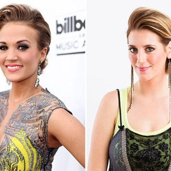 Get the Look: Carrie Underwood's Rockin' Red Carpet Updo