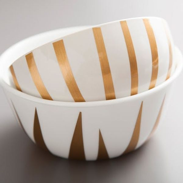 The Easiest Way to Make Gilded Bowls Ever