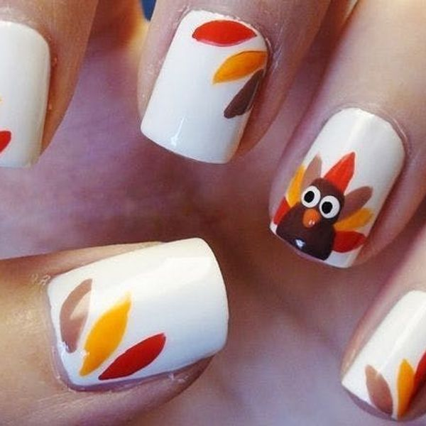12 DIY Nail Art Ideas For Thanksgiving and Fall