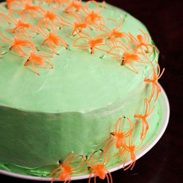 Grab a Slice of our Mean Green Neon Confetti Cake!