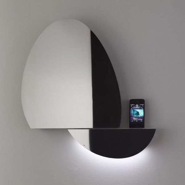 Made Us Look: A Mirror and a Phone Dock in One