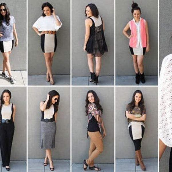 10 Ways to Style a Basic Beige Dress