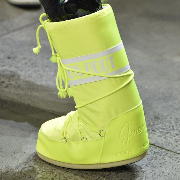 You NEED to See the Insane Moon Boots Jeremy Scott Sent Down the Runway for NYFW