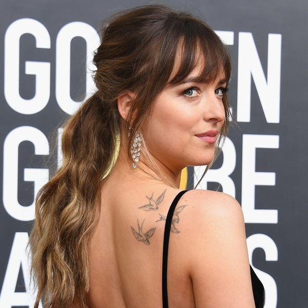 Dakota Johnson's Golden Globes Dress Looked Like a Starry Night