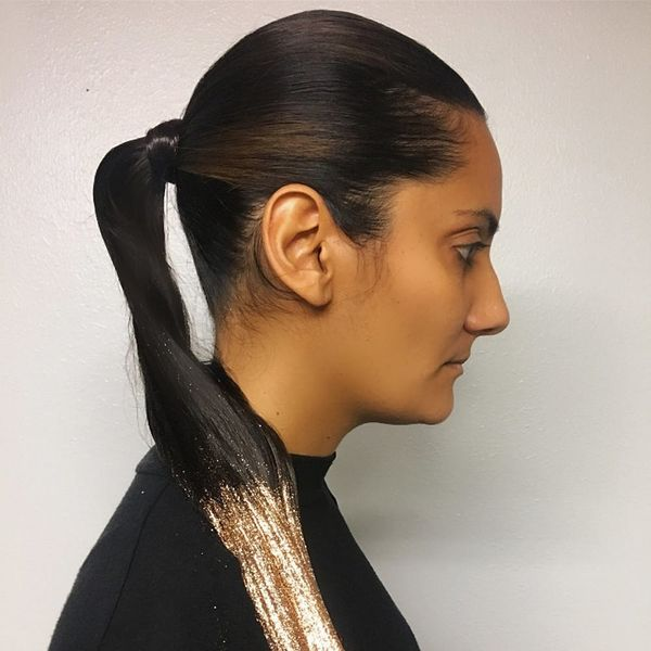 The Glitter Ponytail Is the Easiest Holiday Hair Trend to Rock