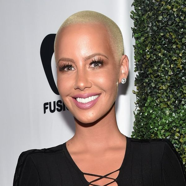 Amber Rose Looks Totally Different With Long Black Hair