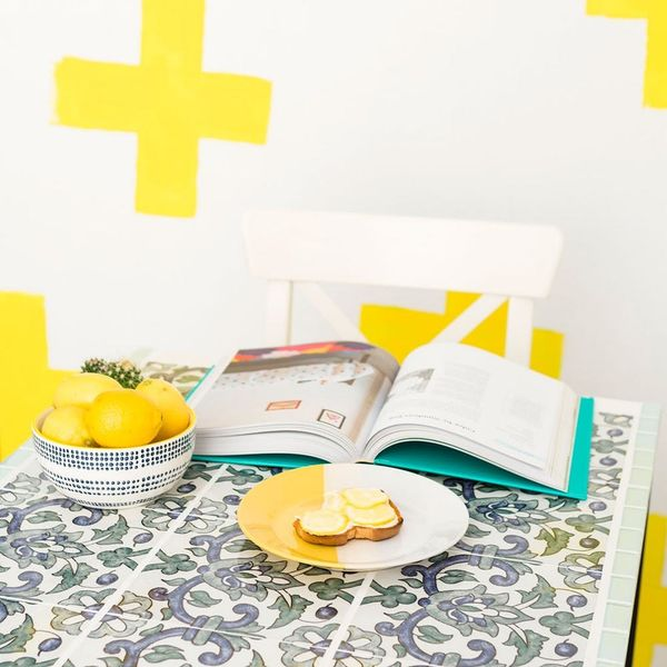 Mixed Tiles and Glitter Grout Make This IKEA Hack the Best of All Time