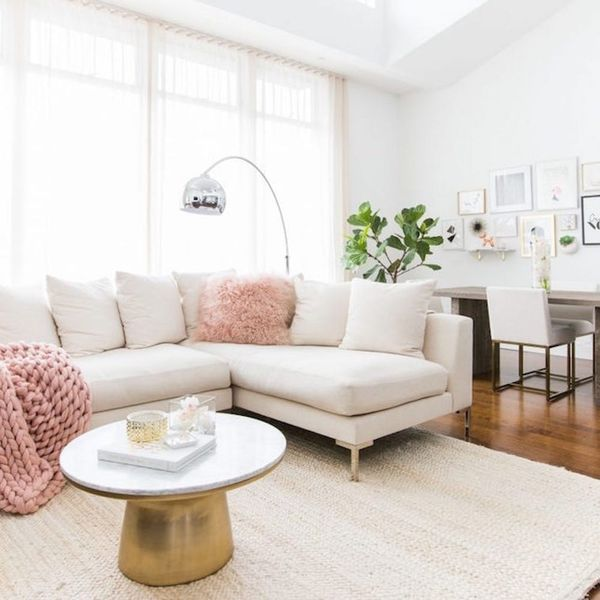 This Fashion Blogger's Blush Pink Living Room Is Totes Instagram-Worthy