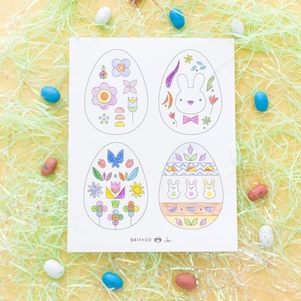 Download These Adorable Passover + Easter Coloring Pages
