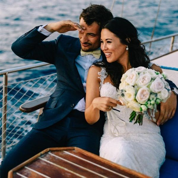 You'll Fall in Love With This Picturesque Greek Wedding
