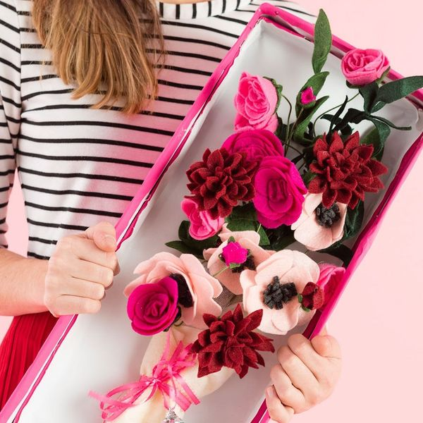 Send Your BFF This Felt Bouquet for Galentine's Day