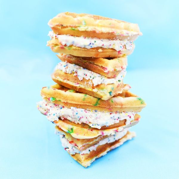 Get Your Rainbow Fix With This Funfetti Waffle Sandwich