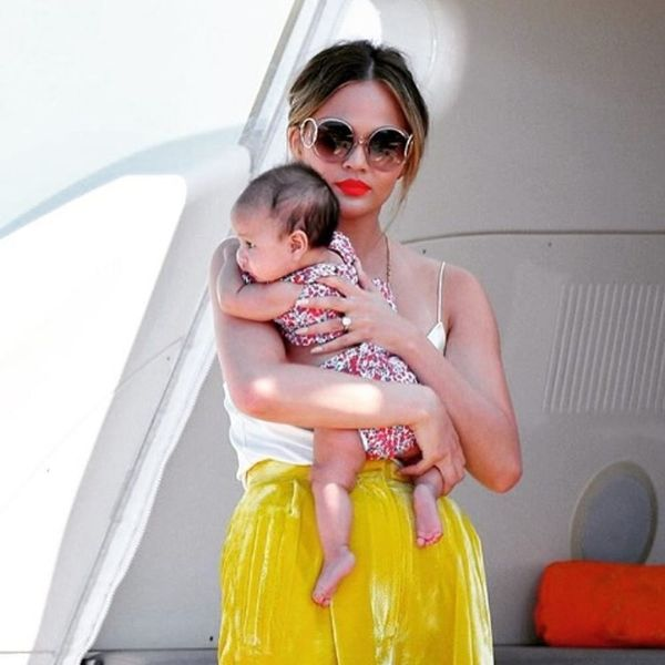Chrissy Teigen Doesn't Want Your Parenting Advice for Luna's Eczema