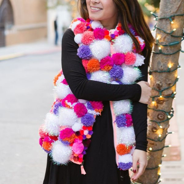 Make This DIY Pom-Pom Vest for All Your Ugly Sweater Parties