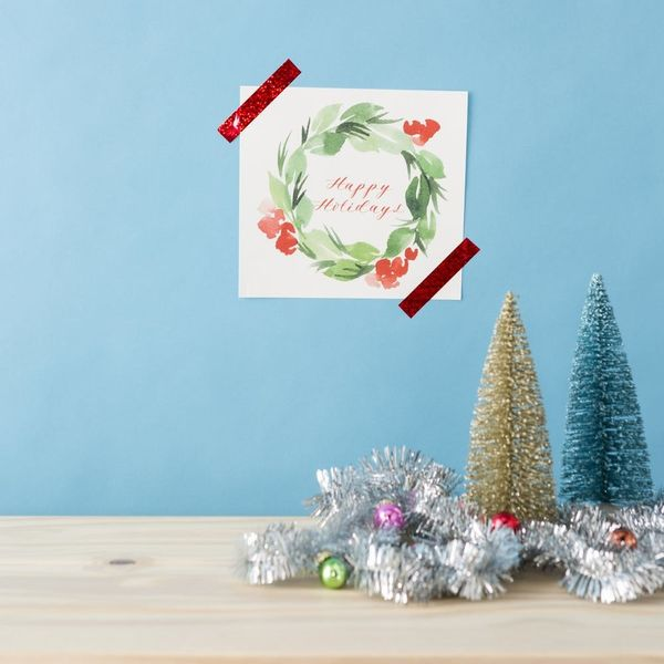 This DIY Watercolor Wreath Is Sure to Brighten Up Your Home for the Holiday (FREE Project Guide Inside)