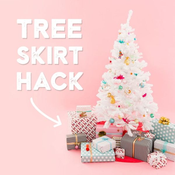 Hack Your Velvet Christmas Tree Skirt So You Can Wear It Too