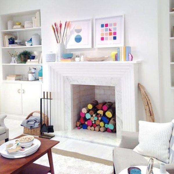19 Unique Fireplace Decor Ideas That Don't Require a Flame