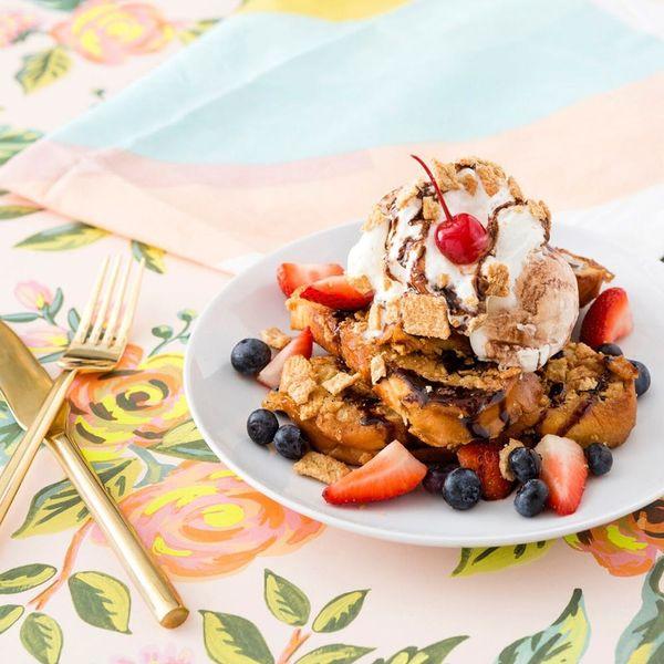 Recipe Mashup! Treat Yourself to Cinnamon Toast Crunch French Toast Sundaes