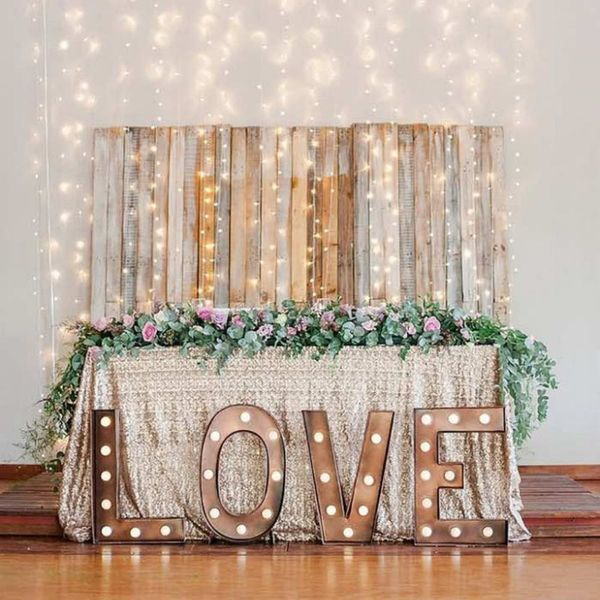 20 Shiny Ways to Incorporate Marquee Lights in Your Wedding Decor