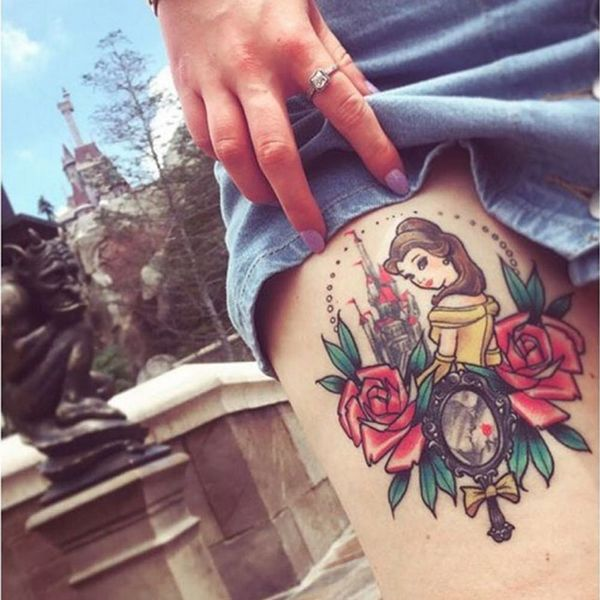 11 Disney Tattoos Inspired by Beauty and the Beast