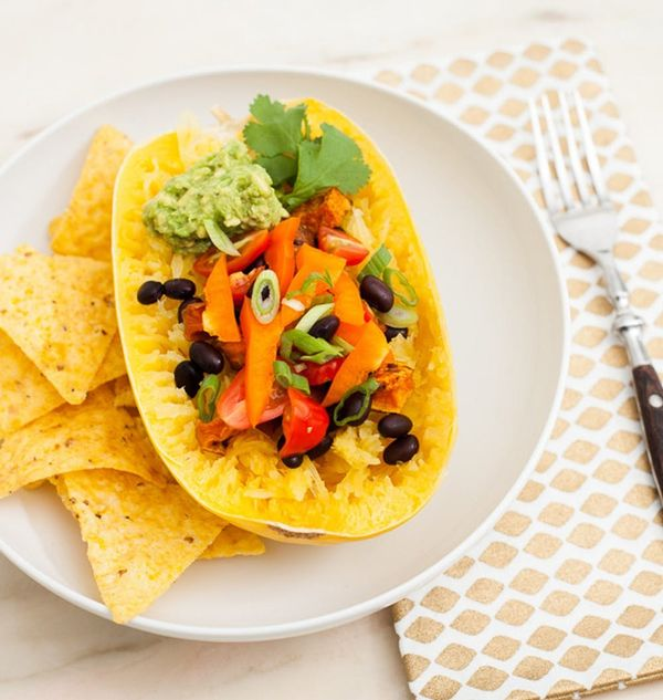 These Spaghetti Squash Burrito Bowls Are a Low-Carb, One-Bowl Wonder