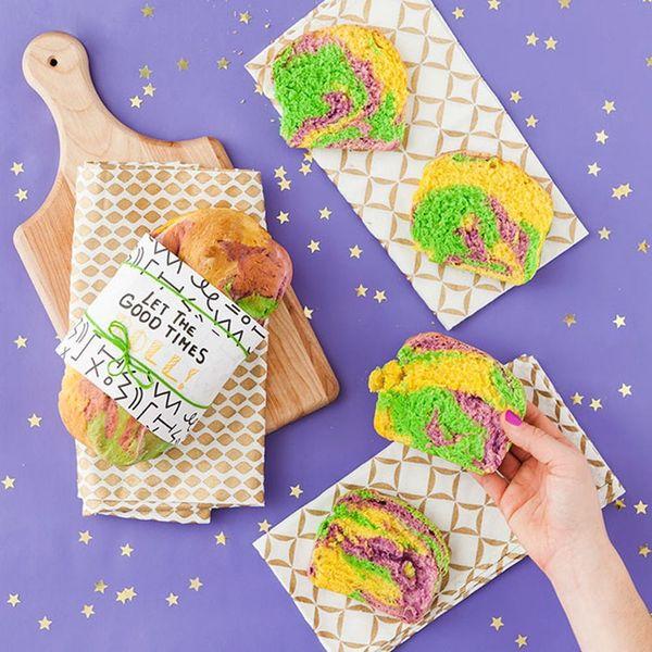 You Need to Bake This Rainbow Bread to Celebrate Mardi Gras