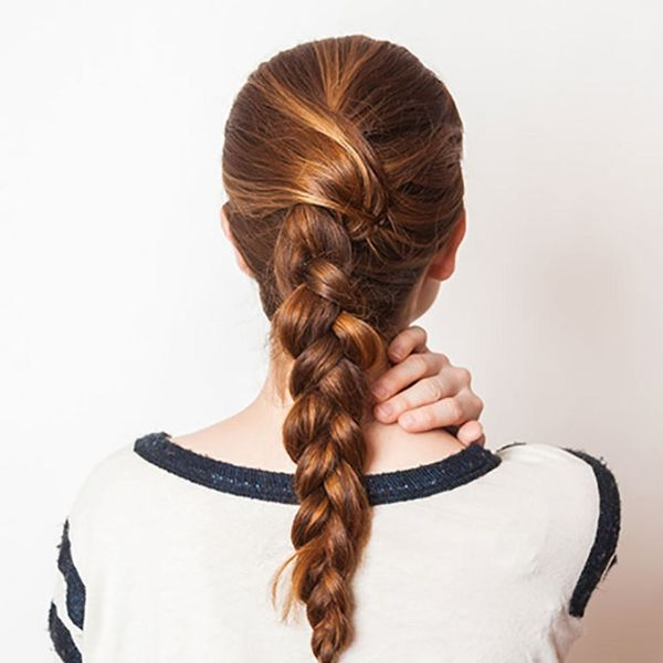 This Easy Upgraded French Braid Is Exactly What Your Lazy Girl Look Needs