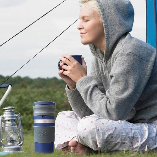 This Tumbler Grinds and Brews Your Coffee On The Go