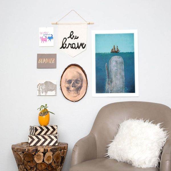 Give Your Gallery Wall a Typographical Upgrade With 10-Minute DIY Wall Art