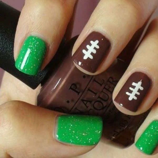 11 Nail Art Designs to Rock on Super Bowl Sunday